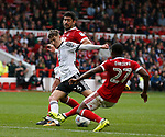 David Brooks of Sheffield Utd takes a shot on goal during the Championship match at the City Ground Stadium, Nottingham. Picture date 30th September 2017. Picture credit should read: Simon Bellis/Sportimage