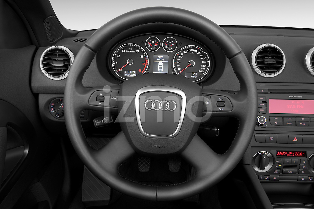 Steering wheel view of a 2003 - 2012 Audi A3 Attraction 2-Door Convertible.