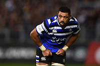 Taulupe Faletau of Bath Rugby looks on. Gallagher Premiership match, between Bath Rugby and Exeter Chiefs on October 5, 2018 at the Recreation Ground in Bath, England. Photo by: Patrick Khachfe / Onside Images