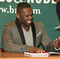 NEW YORK, NY - JANUARY 16: 50 Cent signs copies of his new book,  'Formula 50: A 6-Week Workout and Nutrition Plan That Will Transform Your Life' at Barnes & Noble, 5th Avenue on January 16, 2013 in New York City. Credit RW/MediaPunch Inc. /NortePhoto©