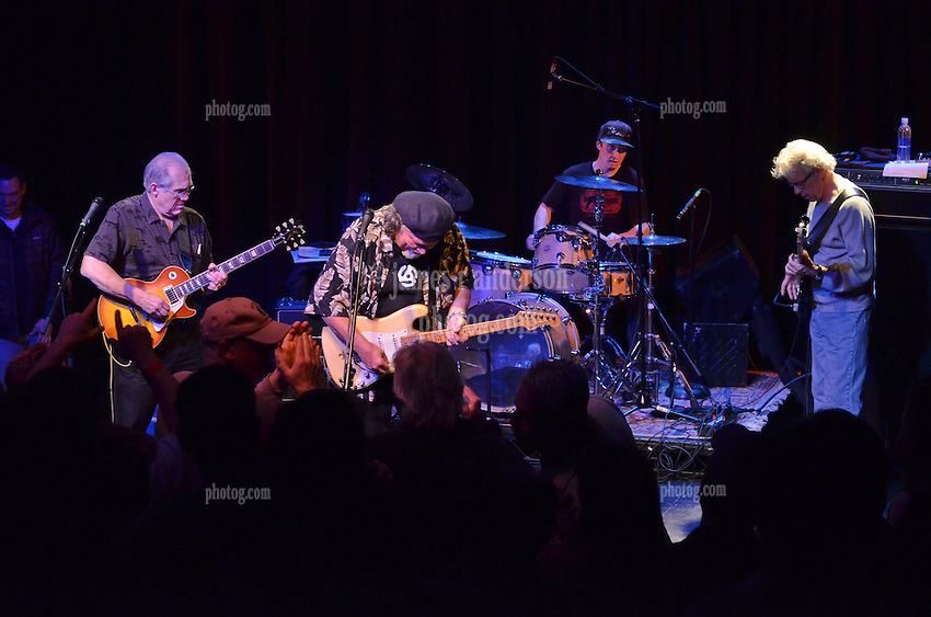 FishHead Stew in Concert at FTC StageOne on 8 February 2012. Former Radiators members: Dave Malone (guitar), Camile Baudoin (guitar), Reggie Scanlan (bass) and Adam Deitch.