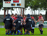 The Horowhenua Kapiti team celebrates winning the Mitre 10 Heartland Championship rugby union match between Horowhenua Kapiti and Wanganui at Levin Domain in Levin, New Zealand on Saturday, 7 October 2017. Photo: Dave Lintott / lintottphoto.co.nz