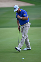 Graeme McDowell (NIR) watches his putt on 18 during day 3 of the Valero Texas Open, at the TPC San Antonio Oaks Course, San Antonio, Texas, USA. 4/6/2019.<br /> Picture: Golffile | Ken Murray<br /> <br /> <br /> All photo usage must carry mandatory copyright credit (&copy; Golffile | Ken Murray)
