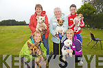 Taking part in the dog show for the Annual Harvest Queen Festival was Clare Sheehy, Josephine Fitzgerald, May Relihan, Lorraine Fitzgerald and Tara Mangan, pictured here last Saturday in Knocknagoshal.