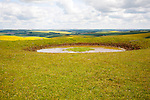 Dew pond water supply on the top of Tan Hill, All Cannings, Wiltshire, England