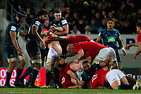 A maul collapses during the 2017 DHL Lions Series rugby union match between the Blues and British & Irish Lions at Eden Park in Auckland, New Zealand on Wednesday, 7 June 2017. Photo: Dave Lintott / lintottphoto.co.nz