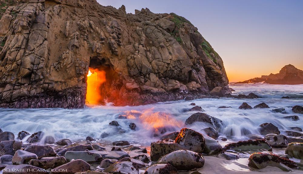 Keyhole Arch Sunset, Big Sur