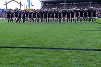 The All Blacks line up before the international rugby union match between the New Zealand All Blacks and Tonga at FMG Stadium in Hamilton, New Zealand on Saturday, 7 September 2019. Photo: Dave Lintott / lintottphoto.co.nz