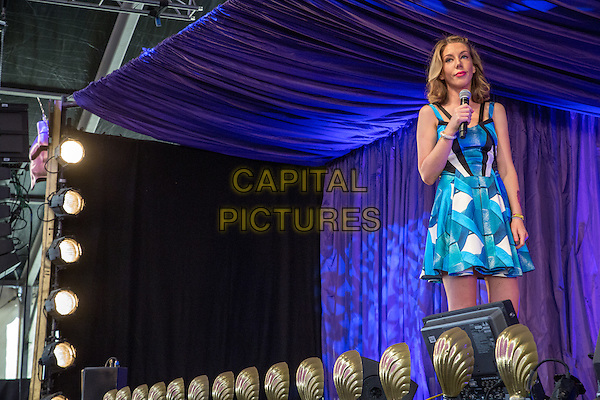 19 July 2015: Canadian Comedian Katherine Ryan plays the Comedy Arena on day 4 of the 2015 Latitude Festival in Henham Park, Southwold, Suffolk, UK<br /> CAP/PP/HOG<br /> &copy; HOG/PP/Capital Pictures