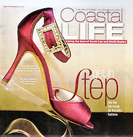 Cover and inside Fall Fashion photos by South Florida photographer, Debi Pittman Wilkey, for Coastal Life, News-Press Fort Myers, a weekly magazine covering South Lee and North Naples, Florida, USA, Sept. 23, 2011.