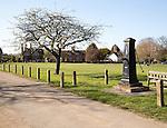 Village green and old water pump Somerleyton, near Lowestoft, Suffolk, England, UK