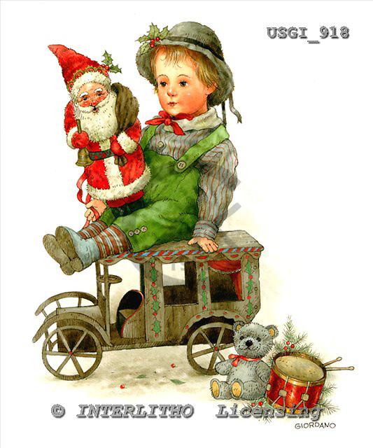 GIORDANO, CHRISTMAS SANTA, SNOWMAN, WEIHNACHTSMÄNNER, SCHNEEMÄNNER, PAPÁ NOEL, MUÑECOS DE NIEVE, nostalgic, paintings+++++,USGI918,#X# nostalgic,vintage