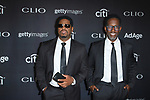 Musicians Nathan Morris (left) and Sean Stockman of Boyz II Men, arrive at the 2017 Clio Awards in The Tent at Lincoln Center in New York City on September 27, 2017.