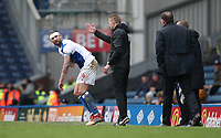 Blackburn Rovers' Charlie Mulgrew goes back on after an injury in the second half<br /> <br /> Photographer Rachel Holborn/CameraSport<br /> <br /> The EFL Sky Bet League One - Blackburn Rovers v Blackpool - Saturday 10th March 2018 - Ewood Park - Blackburn<br /> <br /> World Copyright &copy; 2018 CameraSport. All rights reserved. 43 Linden Ave. Countesthorpe. Leicester. England. LE8 5PG - Tel: +44 (0) 116 277 4147 - admin@camerasport.com - www.camerasport.com