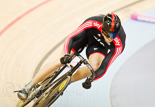 19 FEB 2012 - LONDON, GBR - Sky Track Cycling's Matt Crampton (GBR) attempts to qualify for the Men's Sprint during the UCI Track Cycling World Cup, and London Prepares test event for the 2012 Olympic Games, in the Olympic Park Velodrome in Stratford, London, Great Britain (PHOTO (C) 2012 NIGEL FARROW)