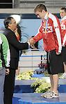 November 13 2011 - Guadalajara, Mexico: Maxime Rouselle receives his Bronze medal at the 2011 Parapan American Games in Guadalajara, Mexico.  Photos: Matthew Murnaghan/Canadian Paralympic Committee
