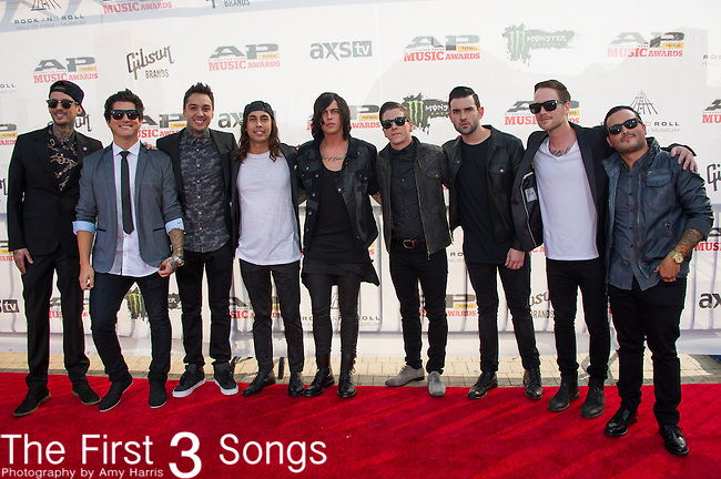 Pierce The Vail and Sleeping With Sirens attend the 2014 AP Music Awards at the Rock And Roll Hall Of Fame and Museum at North Coast Harbor in Cleveland, Ohio.