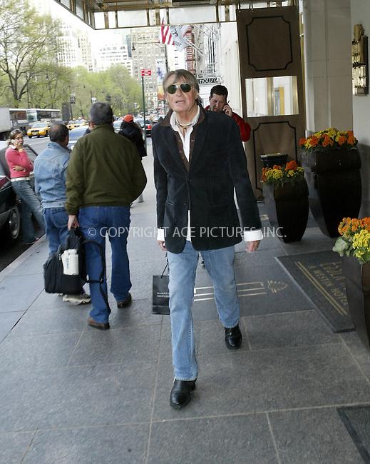 WWW.ACEPIXS.COM . . . . .  ....NEW YORK, APRIL 25, 2005....Joel Schumacher seen leaving his midtown hotel.....Please byline: Ian Wingfield - ACE PICTURES..... *** ***..Ace Pictures, Inc:  ..Craig Ashby (212) 243-8787..e-mail: picturedesk@acepixs.com..web: http://www.acepixs.com