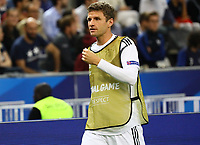 Thomas Mueller (Deutschland Germany) macht sich warm - 16.10.2018: Frankreich vs. Deutschland, 4. Spieltag UEFA Nations League, Stade de France, DISCLAIMER: DFB regulations prohibit any use of photographs as image sequences and/or quasi-video.