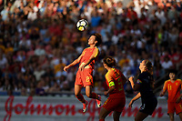 Sandy, Utah - Thursday June 07, 2018: Lou Jiahui during an international friendly match between the women's national teams of the United States (USA) and China PR (CHN) at Rio Tinto Stadium.