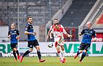 nph00351: Fussball, 1. Bundesliga, Saison 19/20, 26. Spieltag, Fortuna Düsseldorf - FC Paderborn 07, 16.05.2020:<br /> Kevin Stöger (F95), Valon Berisha (F95)<br />  <br /> <br /> Nur für journalistische Zwecke! Only for editorial use!<br /> <br /> Gemäß den Vorgaben der DFL Deutsche Fußball Liga ist es untersagt, in dem Stadion und/oder vom Spiel angefertigte Fotoaufnahmen in Form von Sequenzbildern und/oder videoähnlichen Fotostrecken zu verwerten bzw. verwerten zu lassen. DFL regulations prohibit any use of photographs as image sequences and/or quasi-video. <br /> <br /> Foto: Moritz Müller/Pool / via Meuter/nordphoto
