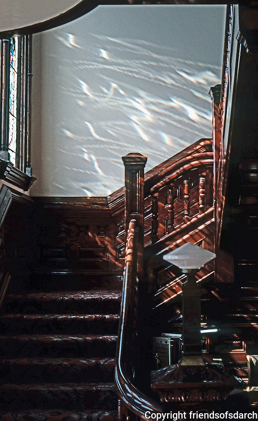 San Diego: Quartermass House Interior--Stairs. Photo '78.