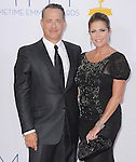 Tom Hanks, Rita Wilson at The 64th Anual Primetime Emmy Awards held at Nokia Theatre L.A. Live in Los Angeles, California on September  23,2012                                                                   Copyright 2012 Hollywood Press Agency
