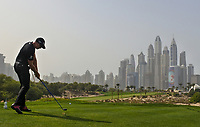 Henrik Stenson (SWE) on the 8th during Round 2 of the Omega Dubai Desert Classic, Emirates Golf Club, Dubai,  United Arab Emirates. 25/01/2019<br /> Picture: Golffile | Thos Caffrey<br /> <br /> <br /> All photo usage must carry mandatory copyright credit (© Golffile | Thos Caffrey)
