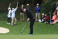 Marcus Kinhult (SWE) on the 15th green during Round 3 of the UBS Hong Kong Open, at Hong Kong golf club, Fanling, Hong Kong. 25/11/2017<br /> Picture: Golffile | Thos Caffrey<br /> <br /> <br /> All photo usage must carry mandatory copyright credit     (&copy; Golffile | Thos Caffrey)
