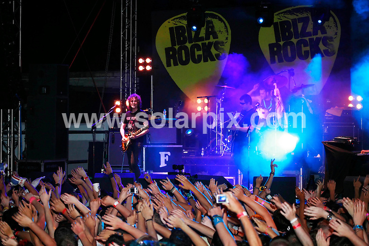 **ALL ROUND PICTURES FROM SOLARPIX.COM**.*WORLDWIDE RIGHTS*.Ibiza Rocks Festival The Fratellis perform live at the San Rafel Hippodrome in San Antonio  Supported by Ladyhawke in Ibiza, Spain. .This pic:Crowd at the rock festival..JOB REF:6788- GMT   DATE:08_07_08 .**MUST CREDIT SOLARPIX.COM OR DOUBLE FEE WILL BE CHARGED* *UNDER NO CIRCUMSTANCES IS THIS IMAGE TO BE REPRODUCED FOR ANY ONLINE EDITION WITHOUT PRIOR PERMISSION*