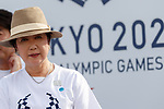 Tokyo governor Yuriko Koike attends the 3 Years to Go! ceremony for the Tokyo 2020 Paralympic games at Urban Dock LaLaport Toyosu on August 25, 2017. The Games are set to start on August 25th 2020. (Photo by Rodrigo Reyes Marin/AFLO)