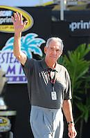 Nov. 16, 2008; Homestead, FL, USA; NASCAR Sprint Cup Series former champion Ned Jarrett during the Ford 400 at Homestead Miami Speedway. Mandatory Credit: Mark J. Rebilas-