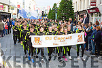 The Dr Crokes teams marching at the Killarney Féile parade on Saturday evening