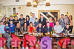 Joint birthday celebrations for Aileen O'Connor from Abbeyfeale and Siobhan Kennedy from Tournafulla, seated (5th and 6th from Left), pictured here celebrating with many family and friends last Saturday night in Leen's Hotel, Abbeyfeale.