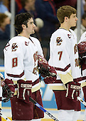 Brett Motherwell (Boston College - St. Charles, IL), Carl Sneep (Boston College - Nisswa, Minnesota) - The Boston College Eagles defeated the Miami University Redhawks 4-0 in the 2007 NCAA Northeast Regional Final on Sunday, March 25, 2007 at the Verizon Wireless Arena in Manchester, New Hampshire.