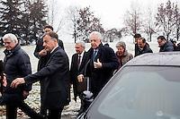 Bergamo: Mario Monti presenta la sua lista Scelta Civica con Monti al kilometro rosso di Bergamo..Mario Monti arriva con la moglie Elsa Antonioli