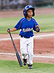 The Fort Worth Cats bat boy in action during the American Association of Independant Professional Baseball game between the El Paso Diablos and the Fort Worth Cats at the historic LaGrave Baseball Field in Fort Worth, Tx. El Paso defeats Fort Worth 6 to 1.