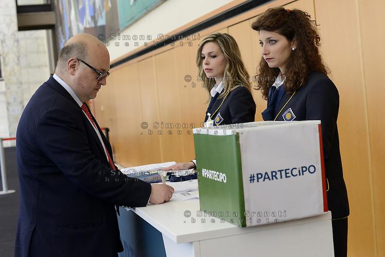 Roma, 28 Giugno 2014<br /> Palazzo dei Congressi<br /> L'ex presidente della Camera fondatore di Alleanza Nazionale Gianfranco Fini ha lanciato oggi il suo ritorno in politica con &quot;Partecipa&quot; l'associazione di destra che vuole di coinvolgere la societ&agrave; civile per &quot;L'Italia che vorresti&quot; e per chiedere &quot;La tua idea per la destra che non c'&egrave;&quot;.<br /> <br /> <br /> Former House Speaker Gianfranco Fini founder of the National Alliance today launched his political comeback with &quot;partecipa&quot;, &quot;Join&quot;, the association that seeks to involve civil society &quot;that Italy would like&quot; and to ask &quot;Your idea for the right that does not exist &quot;