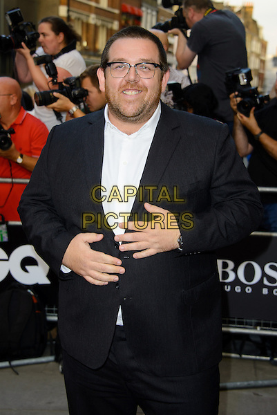 Nick Frost<br /> GQ Men of the Year Awards 2013 at the Royal Opera House, London, England.<br /> 3rd September 2013<br /> half length black white shirt suit glasses stubble facial hair <br /> CAP/CJ<br /> &copy;Chris Joseph/Capital Pictures