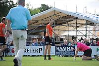 KAATSEN: KIMSWERD: Winnaars hoofdklassepartij Gert-Anne van der Bos, Taeke Triemstra en Daniël Iseger, in de finale waren ze met 5-4 en 6-0 te sterk voor Bauke Triemstra, Dylan Drent en Patrick Scheepstra, de gebroeders Taeke en Bauke Triemstra, ©foto Martin de Jong
