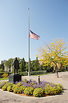 1209-69 031.CR2<br /> <br /> 1209-69 Flag Half Staff in front of ASB<br /> <br /> September 27, 2012<br /> <br /> Photo by Jaren Wilkey/BYU<br /> <br /> &copy; BYU PHOTO 2012<br /> All Rights Reserved<br /> photo@byu.edu  (801)422-7322