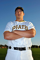 Feb 28, 2010; Bradenton, FL, USA; Pittsburgh Pirates  infielder Doug Bernier (82) during  photoday at Pirate City. Mandatory Credit: Tomasso De Rosa/ Four Seam Images