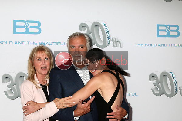 """Laurette McCook, John McCook, Rene Sofer<br /> at the """"The Bold and The Beautiful"""" 30th Anniversary Party, Clifton's Downtown, Los Angeles, CA 03-18-17<br /> David Edwards/DailyCeleb.com 818-249-4998"""