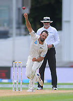 NZ's Daryl Mitchell bowls during day four of the international cricket 2nd test match between NZ Black Caps and England at Seddon Park in Hamilton, New Zealand on Friday, 22 November 2019. Photo: Dave Lintott / lintottphoto.co.nz