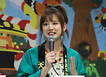 July 13, 2018, Tokyo, Japan - Japanese TV personality Kabutomushi Yukari attends a promotional event for an insect exhibition at the Skytree town in Tokyo on Friday, July 13, 2018. The annual insect show which attracts summer vacationers will be held from July 14 through September 2.      (Photo by Yoshio Tsunoda/AFLO) LWX -ytd-