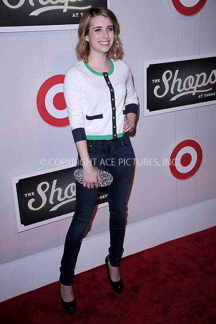 WWW.ACEPIXS.COM . . . . . .May 1, 2012...New York City....Emma Roberts attends The Shops At Target Launch Party on May 1, 2012  in New York City ....Please byline: KRISTIN CALLAHAN - ACEPIXS.COM.. . . . . . ..Ace Pictures, Inc: ..tel: (212) 243 8787 or (646) 769 0430..e-mail: info@acepixs.com..web: http://www.acepixs.com .