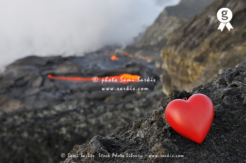 Heartshape by a volcanic landscape (Licence this image exclusively with Getty: http://www.gettyimages.com/detail/83749918 )