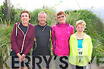 Anne O'Leary, George Glover, Joan Glover, Caroline Harrington Stack at the The Brandon Bay half marathon and 10k run, Ireland's first and only running event entirely run on a beach,  in the Maharees, Castlegregory,  on Saturday