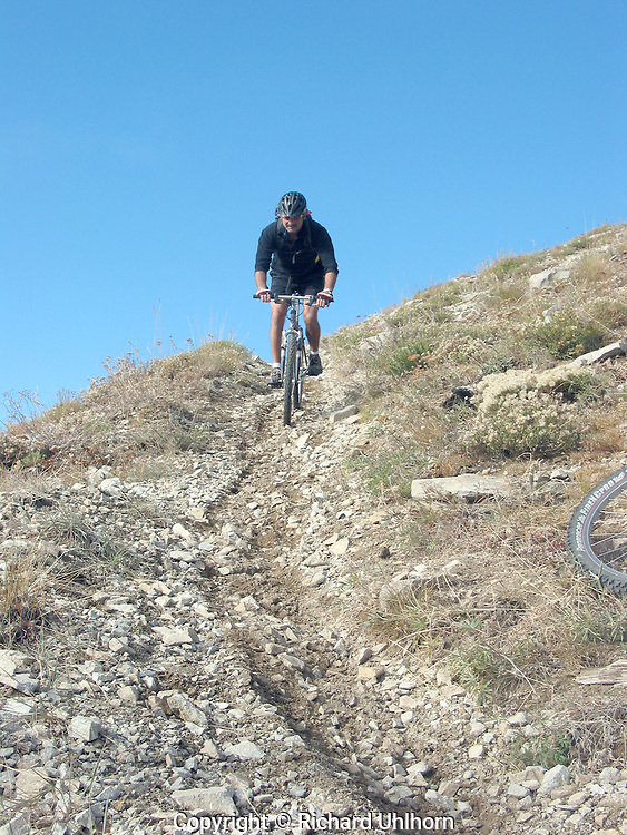 Rick Schloss on the Devil's Backbone in eastern Washington.
