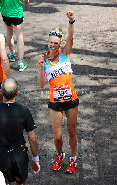 WWW.ACEPIXS.COM . . . . .  ..... . . . . US SALES ONLY . . . . .....April 22 2012, London....Nell McAndrew at The 2012 Virgin London Marathon on April 22 2012 in London....Please byline: FAMOUS-ACE PICTURES... . . . .  ....Ace Pictures, Inc:  ..Tel: (212) 243-8787..e-mail: info@acepixs.com..web: http://www.acepixs.com